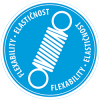 Elastično - moder piktogram